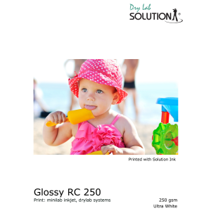 Solution Glossy RC 250gsm Drylab 127mm x 100m (Inhalt 4 Rollen)