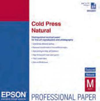 Epson Cold Press Natural - A3+ (329x483mm) - 25 Blatt