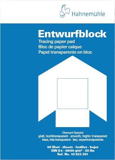 50 Blatt 190g//m² Hahnemühle Skizzenblock DIN A4