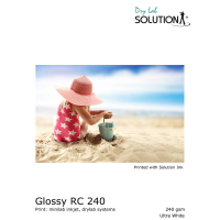 Solution Glossy RC 240gsm Drylab Papier